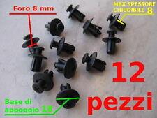VITI Fermi Rivetti plastica A VITE X CODONI CARENE 8 mm fissaggio sicuro 12 pz
