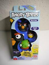 New Angry Birds Black Bird, Moustache Pig, Orange Bird Add-On, 3-Pack