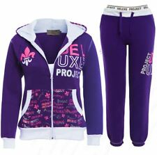 Girls Tracksuit Jersey 2 Piece Loungewear Age 7 12 13 Years Purple Hoody Pants