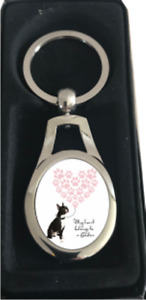 Boston terrier Keyring gift idea