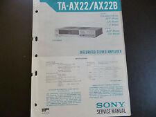 Original Service Manual Sony TA-AX22 / AX22B