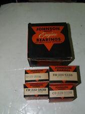 NOS Johnson Bronze Engine Rod Bearing set for Chevrolet 1940-1952 .030