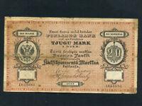 Finland:P-A47b,20 Markkaa/Tjugu Mark,1883 * RARE * F *