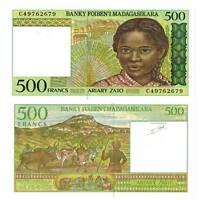 Pick 75b Madagaskar / Madagascar 500 Francs 1994  Unc. / 6317045vvv