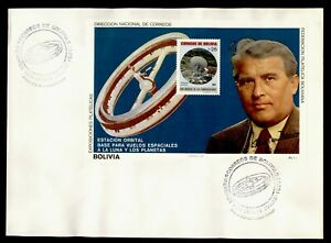 DR WHO 1977 BOLIVIA FDC SPACE S/S IMPERF  g20567