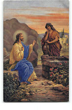 Jesus-Samaritan Woman-Jacob's Well-Greek Convent Press-Jerusalem-Postcard