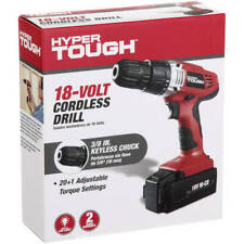 Cordless Power Drill Forward & Reverse Switch 18-V Ni-Cad Battery