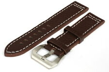 22MM Brown Leather Strap Stitched - High Quality - 120000