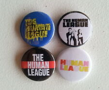 "4 x The Human League 1"" Pin Button Badges ( uk new wave synthpop music )"