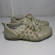 Michelle K Harmon 7 Sport Gold Leather Tennis Shoes Sneakers