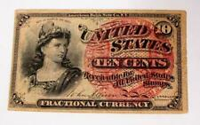 1863 U.S. Fractional Currency * 10 Cents * Better Grade * No Reserve