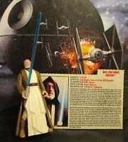 1995  Kenner Star Wars POTF 2 Obi-Wan Kenobi Long Saber Loose & Complete Figure
