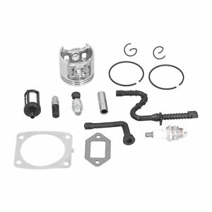 47mm Cylinder Piston Kit W/Gasket Fuel Filter Compatible For MS361Chainsaw