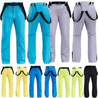 Windproof Men's Winter Ski Snow Pants Waterproof Snowboard Trousers Salopettes