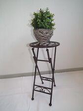 Beistelltisch Blumentisch Klapptisch Metall Eisen klappbar dunkelrostfarben 25cm