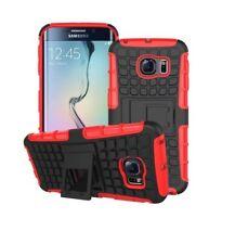 Rouge antichoc en caoutchouc Samsung Galaxy S6 couverture de téléphone cas tenir