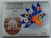 2001 Centenary of the Federation Australia Uncirculated Six Coin Set
