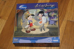 Disney Artist Series Toby Bluth 1000 Piece Puzzle called Oh La La Pinocchio