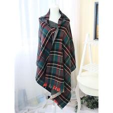 Women Blanket Oversized Long Tartan Scarf Wrap Shawl Plaid Cozy Checked Pashmina