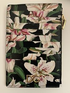 NEW Dolce Gabbana Floral Card Holder Lily Wallet