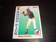 Manny Ramirez 1992 Score ROOKIE Baseball Card #800 Cleveland Indians / Red Sox