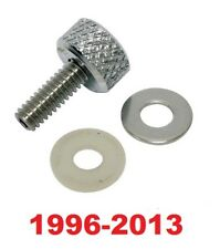 Knurled Billet Aluminum Seat Screw Harley 1996-17 Long Mounting Bolt 1/4-20-1/2""