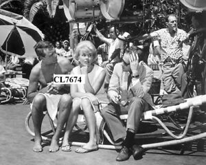 Cary Grant, Doris Day and Stanley Shapiro on Movie Set of 'That Touch of Mink'