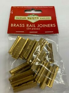 Bachmann 94657 Pack of 24 Brass Screw Lock Type Rail Joiners fit Aristo & USA