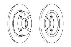 Ferodo Front Brake Discs Pair for Ford Courier Escort Fiesta Orion F3L 1995-1990