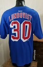NHL New York Rangers Hockey LUNDOVIST #30 Reebok Blue Jersey T-Shirt Sz 2XL.