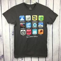 Walt Disney World Mens T-Shirt Size S iphone Apps Android Smart Phone  A12-11