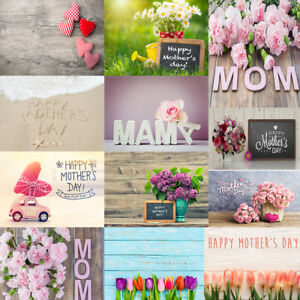 Happy Mother's Day Theme Photography Background Chic Flowers Photo Backdrop Prop
