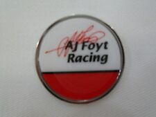 A. J . Foyt Racing Collector Round Lapel Pin 4x Winner Indianapolis 500 IndyCar