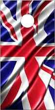 British Flag Wavy LAMINATED Cornhole Wrap Bag Toss Skin Decal
