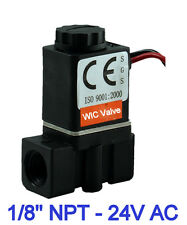 "1/8"" Inch Plastic Electric Air Gas Water Solenoid Valve Normally Closed 24V AC"