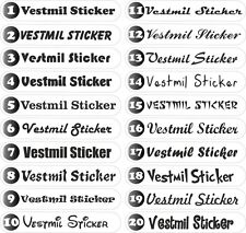 Custom car sticker personalized name company web shop stickers decals