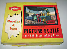 Vintage Jaymar Currier & Ives The Night Express Jigsaw Picture Puzzle 600 Piece