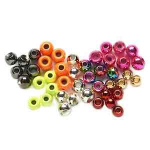 ROUND TUNGSTEN FLY TYING BEADS. Assorted Colours & Sizes  Priced to clear.