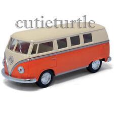 Kinsmart 1962 VW Volkswagen Classic Bus Samba 1:32 w Cream Color Top Orange
