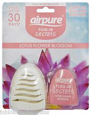12 x Airpure Plug-In Secrets (Lotus Flower Blossom) Plug-In Air Freshener