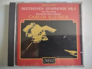 Kleiber conducts Beethoven Symphonies No 4 BRSO Orfeo 100 841 CD German PDO