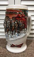 Budweiser Anheuser Busch 2006 Holiday Clydesdale Beer Stein Mug Ceramarte