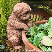 Labradoodle POT HANGER novelty resin garden ornament decoration Dog lover gift