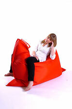 Red Hippo XXL Adult Bean Bag Water Resistant Beanbag Lounger Gamer Outdoor