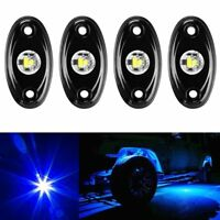 """4x Blue 2"""" CREE LED Rock Light JEEP ATV Off-Road Truck Under Body Trail Rig Lamp"""