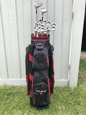 New listing Set of LH Golf Clubs (3 to SW) + Metal Driver + 3 Metal Wood + Maxfli Golf Bag