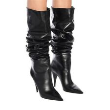 Sexy 35/48 Ladies Slouch Pointy Toe Over the Knee Thigh High Boots Winter Warm L