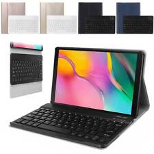 """for iPad 7th Generation 10.2"""" 2019 Wireless Keyboard Leather Folio Case Cover BA"""