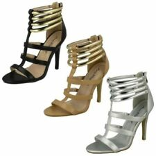 Zip Open Toe Heels for Women