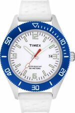 Timex Sportster Mens Womens Watch White Dial And White Strap New & Boxed